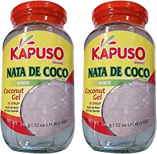 Kapuso Nata de Coco White Coconut Gel in Syrup 340g, 2 Pack