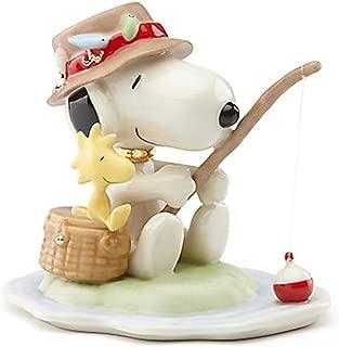 Lenox Peanuts Fishing Buddies Snoopy and Woodstock