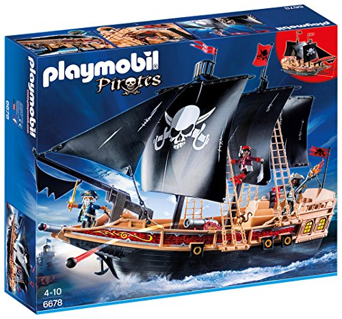 Playmobil- Pirates Giocattolo Galeone dei Pirati, Multicolore, 6678
