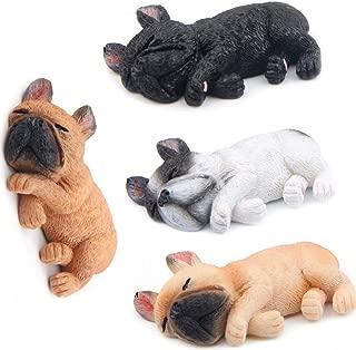 MonLiya 4 Pack 3D Refrigerator Magnetic French Sleeping Bulldog Fridge Magnets Sticker Office Magnet,Kitchen Toy Decor Fridge Ornament,For Whiteboard,Map,Notes,Gift for Christmas,Gifts