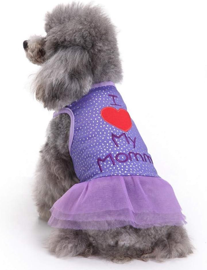 RQJOPE Award Pet Clothes Dog Dress Skirt Summer Princess C Award