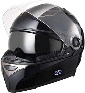 AHR DOT Motorcycle Full Face Helmet Dual Visors Sun Shield Lightweight ABS Air Vent Motorbike Touring Sports