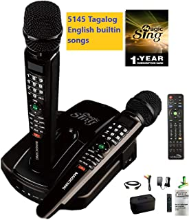 2019 ET23PRO WIFI Magic Sing Karaoke Two Wireless Mics 12,000 English +1 Year Subscription for Tagalog Hindi Spanish Russian Vietnamese Japanese Korean songs & more