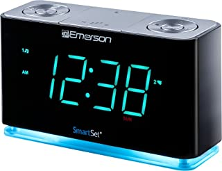 Emerson SmartSet Alarm Clock Radio with Bluetooth Speaker, Charging Station/Phone Chargers with USB port for iPhone/iPad/i...