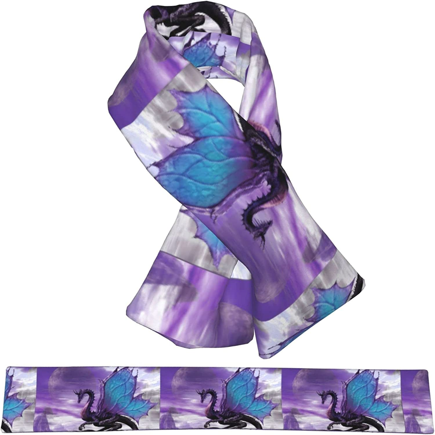 Purple Credence Dragon Plush Scarf Warm Max 85% OFF Childr Double-Sided