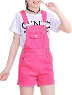 1d9c99bb47d Luodemiss Big Girl s Denim Jumpsuit Boyfriend Jeans Denim Romper Shortalls