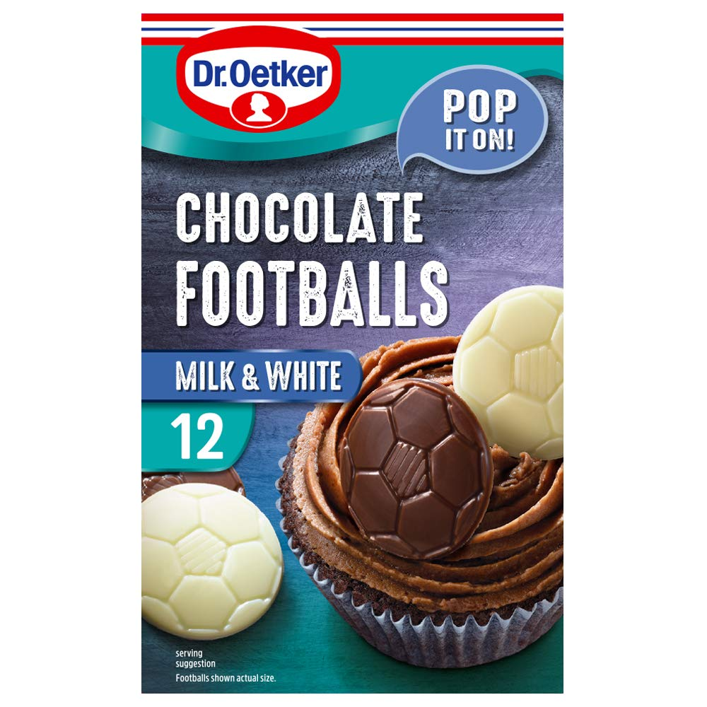 Dr Oetker Chocolate Direct store Product Footballs White Milk 24g