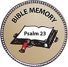 Keepsake Awards Psalm 23 Bible Memory Award, 1 inch Dia Silver Pin Bible Memory Achievements Collection