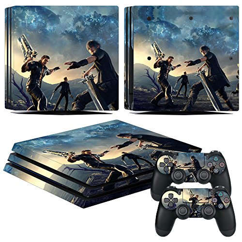 EBTY-Dreams Inc. - Sony Playstation 4 Pro (PS4 Pro) - Final Fantasy XV (FFXV) Video Game Noctis, Gladiolus, Ignis & Prompto Vinyl Skin Sticker Decal