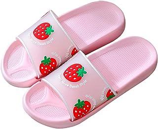 Women's Slide Sandals Strawberry Fruits Soft Sole Beach Shower Slides