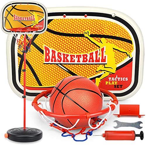 LNLJ Juego de aro y tablero de baloncesto para niños, altura ajustable, 80 – 200 cm, soporte de baloncesto de elevación para interiores y exteriores, juguete para niños