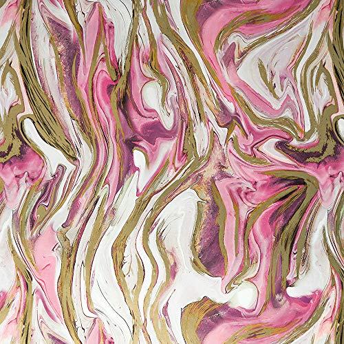 Geschenkpapier 70cm x 2m Rolle Motive: Ornament rosa gold