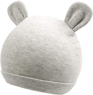 Zsedrut Baby Boy Beanie Newborn Girl Hospital Hat 0-4M Toddler Nursery Cap Rabbit,Bear Ears,100% Cotton,Double Fabric