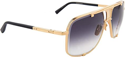Dita DRX-2087-F-GLD-LTD-64-Z Mach-Five Limited Edition Sunglasses Yellow Gold - Matte Black 64mm