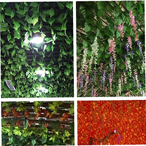 lujiaoshout Artificiales trepadora Hojas de Las vides Colgantes Planta de Grandes Hojas Garland para la decoración de Interiores en el Exterior - 5pcs / Set