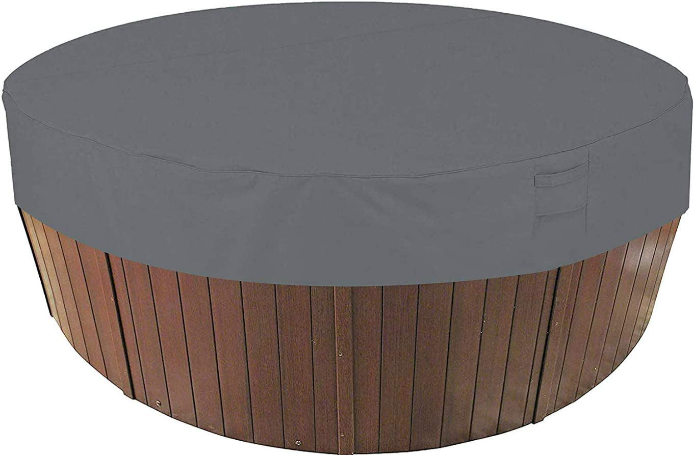 AsiaCreate Outdoor Round Hot Tub Co 中古 Waterproof 公式 SPA Cover