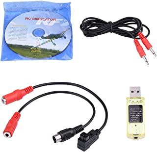Jadpes Flight Simulator, 22 in 1 RC USB Simulator with Cables for Realflight G7/ G6/ G5 1 Simulator Software DVD(Practice ...