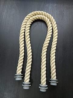 65Cm 1 Pair Soft Nature Rope Handle for Italy Obag O Bag Handles Handbag Strap Parts Accessories DIY Women's Bags