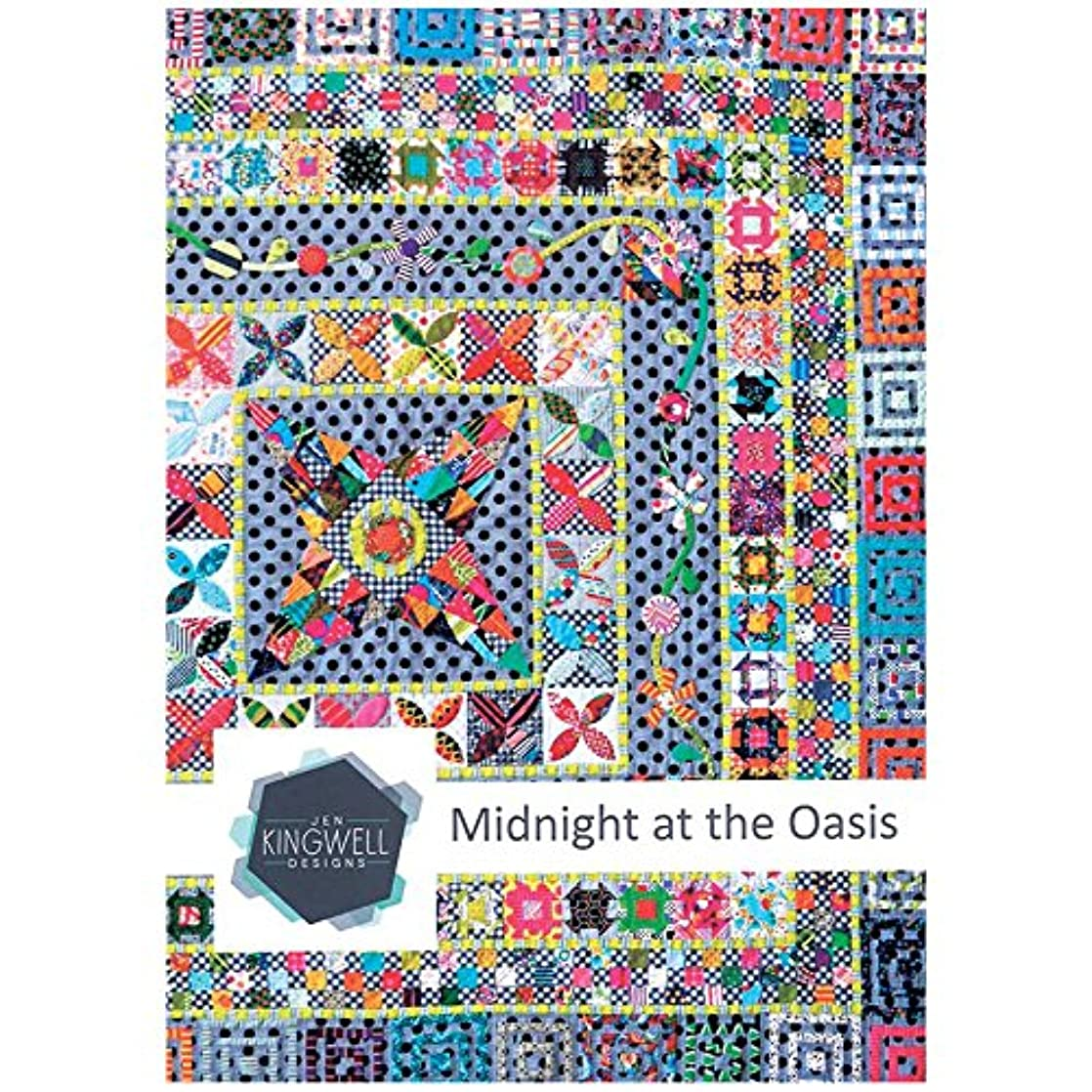 Midnight at The Oasis Quilt Pattern by Jen Kingwell Designs afvoeqeu32419