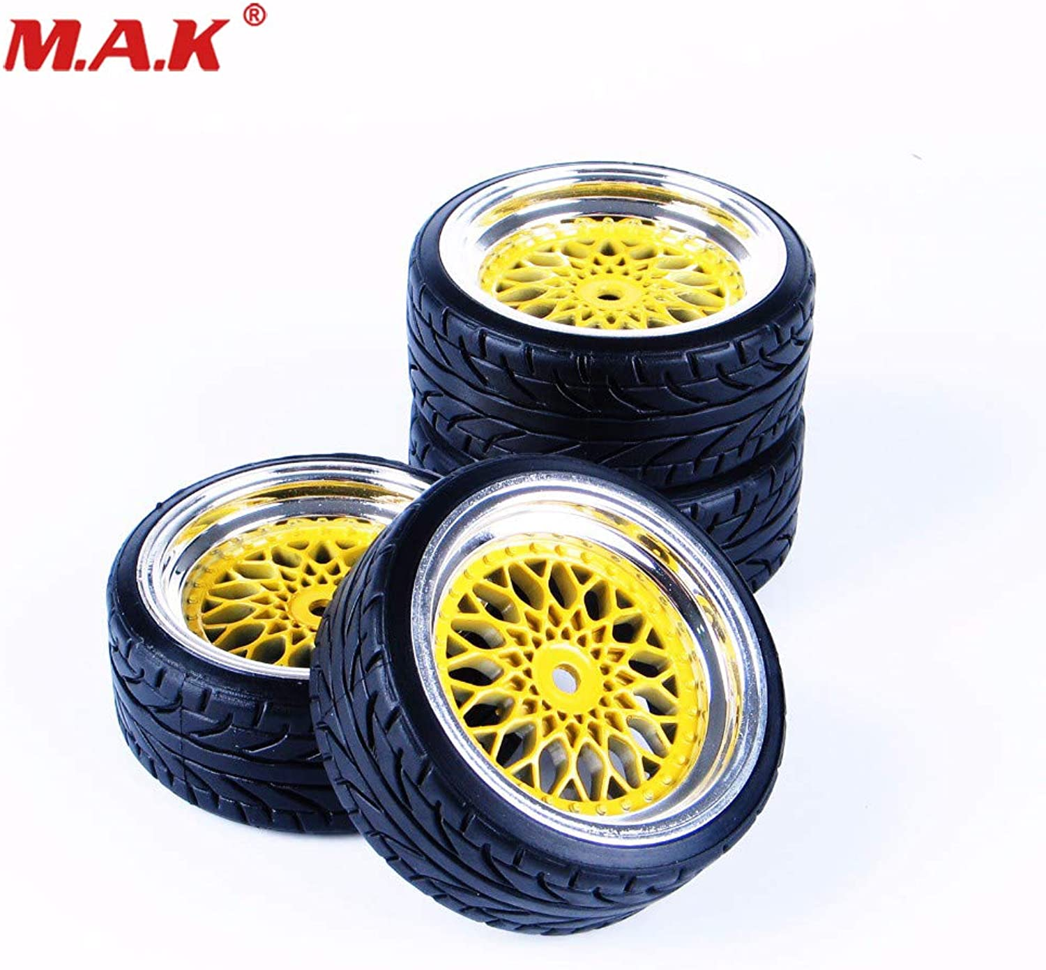 Generic On Road 1 10 Car 4 Pcs Set RC Flat Drift Tires Tyres Wheel Rim for 1 10 HSP HPI Drift Car Model Toys Set Accessory