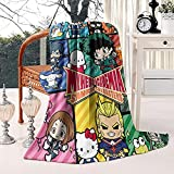 My Hero Academia Blanket Anime Blankets Soft Plush Flannel Fleece Throw Blankets for Couch Sofa Bedding Living Room 50' X60'