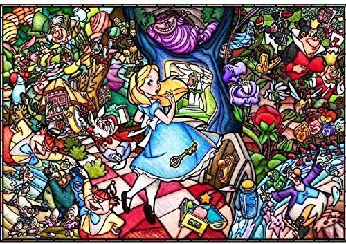 BBSJX Premium Puzzle, Rompecabezas Alicia En El País De Las Maravillas 1000 Piezas Rompecabezas Intelectuales Juegos De Rompecabezas Decoración para El Hogar Juguetes, 75X50Cm