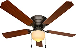52 inch Ceiling Fans & Lighting,Contemporary Indoor LED Ceiling Fan with Lights and 5 Blades,Ceiling Fans for Dining room ...