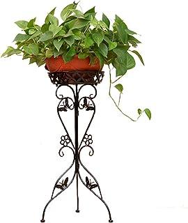 Gettesy Bastidor para macetas 2 Niveles Maceteros Porta Macetas Metal Decorativos/Soporte de Pie/Estante Vintage para Macetas Pedestales Flores Plantas