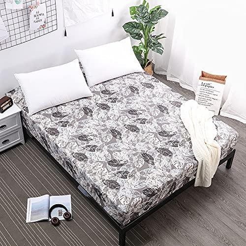 YDyun Protector de colchón de Rizo algodón y Transpirable Impresión de Colcha Impermeable Antideslizante