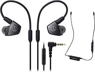 $199 » Audio-Technica ATH-LS300iS Headphones with in-Line Mic and Control (2 Items)