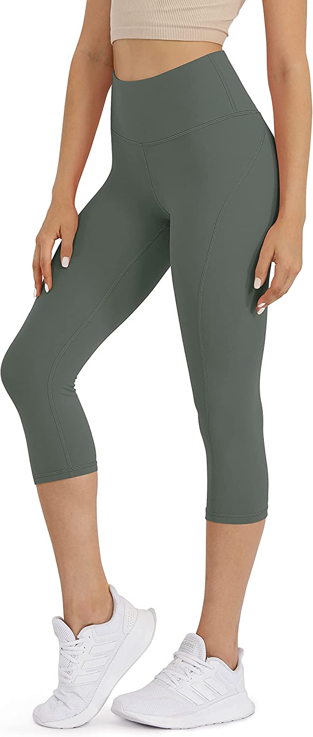 ODODOS Women's Mid Max 53% OFF Waisted price Yoga Sports Leggings Capris Athletic