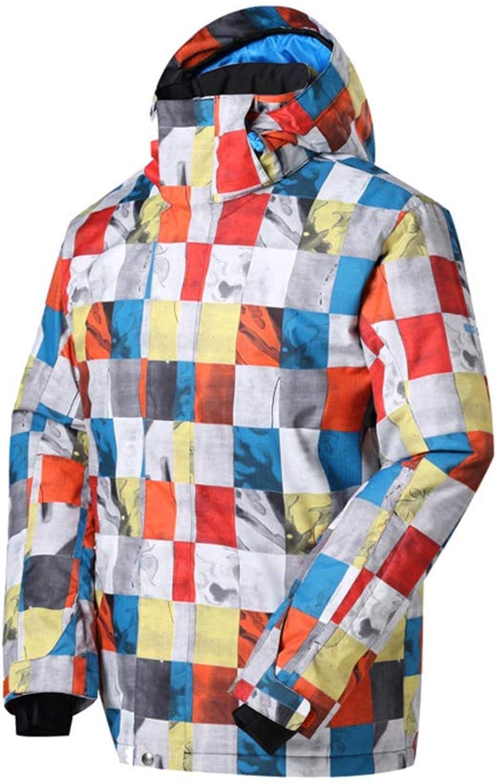 7fb2ee031 FGJFA Men's Waterproof Jacket, Windproof Ski Rain Snow Jacket Winter Warm  Jackets with Hood,