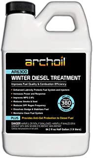 Archoil AR6300 Winter Diesel Treatment - Provides Anti-Gel Protection to Diesel Fuel (64.2oz)