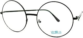 Super Oversized Round Circle Frame Clear Lens Glasses