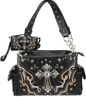 Western Cross Concealed Carry Weapon Purse Handbag Wallet Set