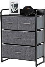 Kamiler 4-Drawer Dresser Storage, 3-Tier Organizer Tower Unit for Bedroom, Hallway,..