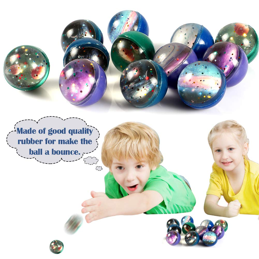 Lorfancy Outer Space Party Favors Supplies Space Toys Slap Bracelets Tattoo Stickers Bouncy Ball Helicopter Keychains Space Pendant Gift Bag Accessories Galaxy Alien Birthday Party for Kids