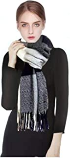 Plaid Scarfs for Women Blanket Shawls and Wraps Long Warm Soft Winter Scarf for Christmas Gift Red/Blue