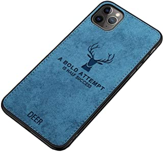Fabric Cover For iPhone 11 Pro From Deer - Blue