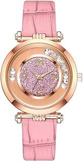wall clock, Women's Wrist Watches Ladies Series Girls Watch Female for Women Women's Watch Belt Sanding Ball pu Strap Quar...