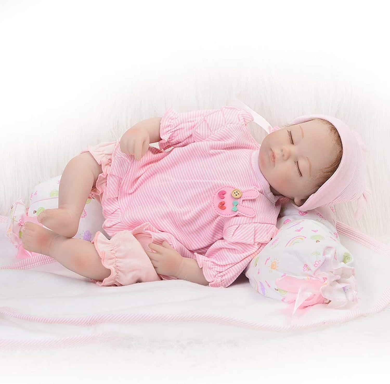 DMZH 43cm Reborn Babypuppen Simulation Weichkrperpuppe Weighted Body Reizendes lebensechtes nettes Baby-Kind