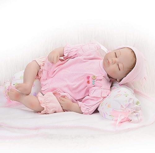 DMZH 43cm Reborn Babypuppen Simulation Weiß puppe Weißted Body Reizendes lebensechtes nettes Baby-Kind