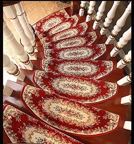 GUORONG Autoadesivo Scale Carpet Solidi Domestici di Legno Scala Passo Pad Camera di tappeti Antiscivolo Facile da Pulire, Antiscivolo Resistente all'usur (Dimensioni : 24 * 75cm)