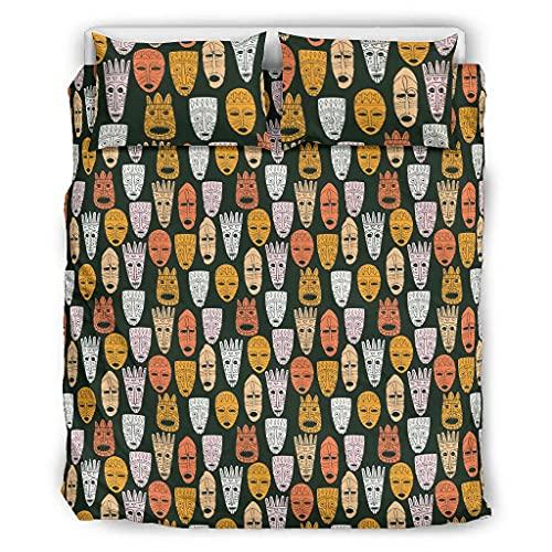 Twelve constellations Inkanmayazteken - Juego de ropa de cama (3 piezas, 264 x 229 cm), diseño antiguo, color blanco