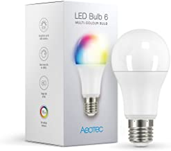 Aeotec LED Bulb Gen6 Multi-Color, Z-Wave Plus RGBW Dimmable & Multi-Color Changing, 9W, 60 watt Incandescent Equivalent, Smart Light Bulb,A19,E26 Base