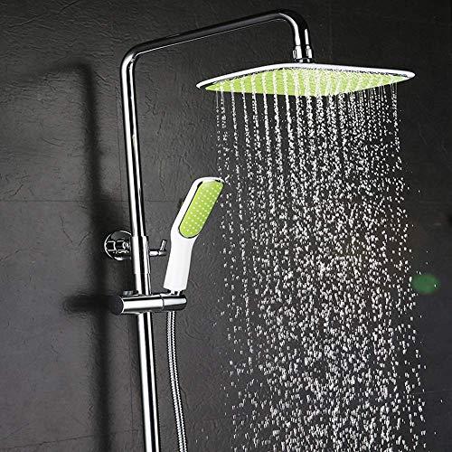 Jkckha ahorro de agua Temperatura constante Set de ducha de baño de ducha tipo lluvia de la ducha termostática llevada de mano Conjunto Inteligente ducha termostática grifo de suministro de agua Siste