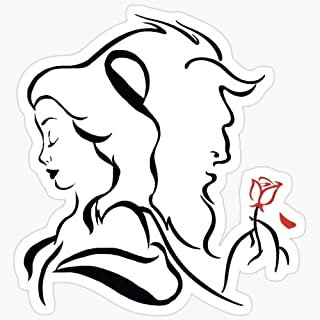 WillettaStore Beauty and The Beast Logo Stickers (3 Pcs/Pack)