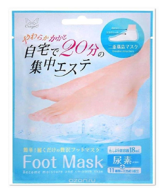 スーパー満たすタンカーフットマスク Foot Mask 自宅で20分の集中エステ やわらかかかと 二重構造マスク 尿素配合