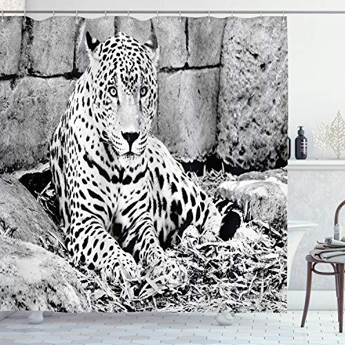 cortinas baño leopardo