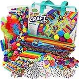 Mega Craft Kit for Kids - Arts & Crafts Supplies for Kids Crafts - Kids Art and Craft Kit - Kids Craft Kits - Toddler Crafts for Kids Craft Set - Preschool Art Supplies for Kids - Crafting Bag